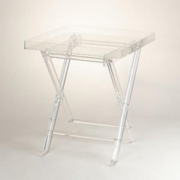 Home Focus Butler S Table Removable Tray